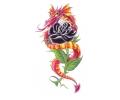 Draken tattoo voorbeeld Draak met Zwarte Roos