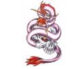 Draken tattoo voorbeeld Draak met Doodshoofd