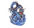 Draken tattoo voorbeeld Blauwe Draken