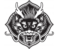 Nieuw!!! Plaktattoos tattoo voorbeeld Drakenkop Chinees