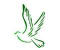 Peace tattoo voorbeeld Duif groen