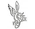 Nieuw!!! Plaktattoos tattoo voorbeeld Forever Music
