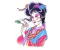 Japans tattoo voorbeeld Geisha 4