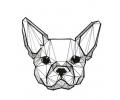 Geometrische Tattoos tattoo voorbeeld Geometrisch Hondje