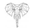 Geometrische Tattoos tattoo voorbeeld Geometrische Olifant