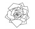 Geometrische Tattoos tattoo voorbeeld Geometrische Roos