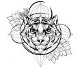 Geometrische Tattoos tattoo voorbeeld Geometrische Tijger