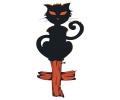 Halloween tattoo voorbeeld Kat op Kruis