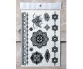 Zwarte Kanten Tattoos tattoo voorbeeld Lace (Kant) Tattoo Set 007 15 x 21 cm