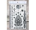 Zwarte Kanten Tattoos tattoo voorbeeld Lace (Kant) Tattoo Set 019 15 x 21 cm