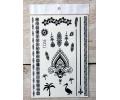 Zwarte Kanten Tattoos tattoo voorbeeld Lace (Kant) Tattoo Set 020 15 x 21 cm