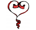 Hartjes tattoo voorbeeld Hartje Rood lint 2