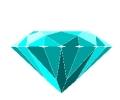 Overige tattoo voorbeeld Diamant