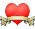 Liefde / Valentijn tattoo voorbeeld Hartje 5