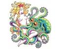 Zeemeermin tattoo voorbeeld Octopus 1