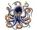 Zeemeermin tattoo voorbeeld Octopus 3