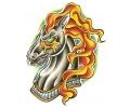 Paarden tattoo voorbeeld Paard met Vuur