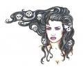Pin-ups / Naakt (18+) tattoo voorbeeld Pin-up Skulls