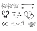 Pols Tattoo - Combi Sets tattoo voorbeeld Pols Tattoo Combi Set 1