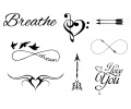 Pols Tattoo - Combi Sets tattoo voorbeeld Pols Tattoo Combi Set 2