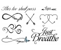 Pols Tattoo - Combi Sets tattoo voorbeeld Pols Tattoo Combi Set 3