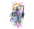 Skulls Kleur tattoo voorbeeld Reaper 4