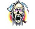 Skulls Kleur tattoo voorbeeld Reaper 3
