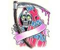 Skulls Kleur tattoo voorbeeld Reaper 2