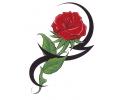 Roos tattoo voorbeeld Roos 2