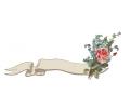 Bloemen tattoo voorbeeld Roosje met vergeetmenietjes