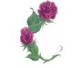 Roos tattoo voorbeeld Roos Paars