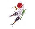Indianen tattoo voorbeeld Roos met Veren