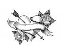 Liefde / Valentijn tattoo voorbeeld Rozenhart