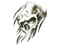Skulls Zwartwit tattoo voorbeeld Skull