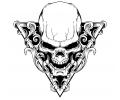 Skulls Zwartwit tattoo voorbeeld Skull Driehoek