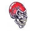 Skulls Kleur tattoo voorbeeld Skull Rood