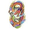 Skulls Kleur tattoo voorbeeld Skulls met Draak