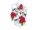 Skulls Kleur tattoo voorbeeld Skulls 'n Roses