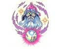 Skulls Kleur tattoo voorbeeld Skull Tovenaar 1