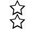Sterretje tattoo voorbeeld 2 sterretjes