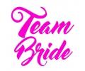 Vrijgezellenfeest tattoo voorbeeld Team Bride Roze