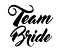 Vrijgezellenfeest tattoo voorbeeld Team Bride Zwart