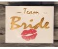 Nieuw!!! Plaktattoos tattoo voorbeeld Team Bride Goud 1