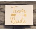 Nieuw!!! Plaktattoos tattoo voorbeeld Team Bride Goud 2