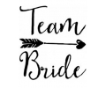 Vrijgezellenfeest tattoo voorbeeld Team Bride met pijl