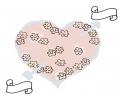 Liefde / Valentijn tattoo voorbeeld Hartje met bloemetjes