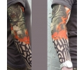 Tattoo sleeves armen tattoo voorbeeld Sleeve 1 Tijger Tribal