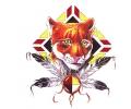 Indianen tattoo voorbeeld Bobcat 2