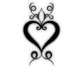 Hartjes tattoo voorbeeld Hart