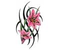Bloemen tattoo voorbeeld Tribal Bloemen